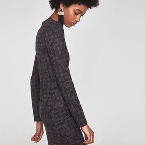 NWT Zara Checkered Floral Dress sz S